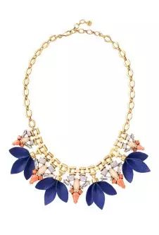 Cute blue and tan feather necklace!! Stella and Dot Jewelry! Buy Jewelry at our website!! www.stelladot.com/twincannons