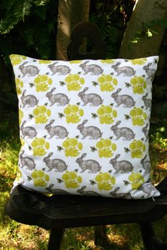 Design cushion cover  Bumble & Hare by BumbleandHare on Etsy, $29.50