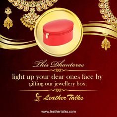 Gift your loved ones something special this Dhanteras. Buy the Jewellery box from Leather Talks!