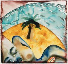 Francesco Clemente (Italian, b. 1952), Untitled (Jamaica Watercolors), 1992. Watercolor on paper, 112.3 x 120.6 cm.