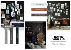"""Moodboards by Ayame Styling & Design and Benedetti Belgium, colors of """"Pure & Original"""" paint"""