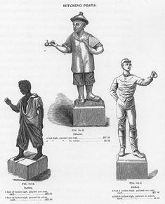 1910 catalog, Fiske, NYC, the Lawn Jockey Statue - Jocko Graves-faithful groomsman, Chinaman, Jockey.