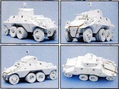 Steyr ADGZ Heavy Armored Car Free Paper Model Download