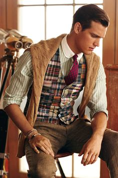 "carlinpreppy: "" ivy-league-style: "" Madras in Fall waistcoat "" Preppy "" Fashion Moda, Look Fashion, Mens Fashion, Guy Fashion, Fashion Decor, Fashion Spring, Fashion Ideas, Fashion Trends, Gentleman Mode"