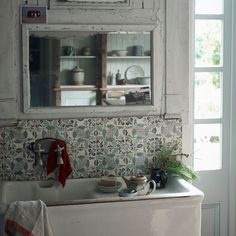 Rustic washing area in kitchen