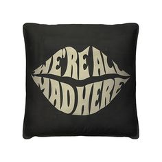 It's fun to be a bit off—advertise it with this playful, yet dignified, throw pillow. The chic design makes it a quirky, upscale addition to your favorite seat.
