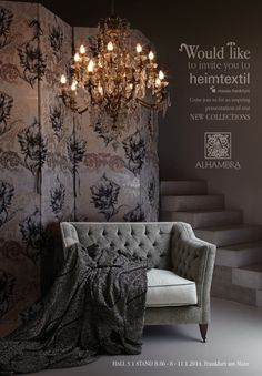 We would like to invite you to Heimtextil 2014! Come and join us for an inspiring presentation of our NEW COLLECTIONS!