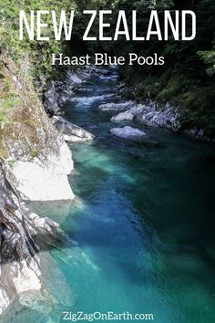 Haast Blue Pool in New Zealand -- #newzealand | New Zealand Travel Guide | Things to do in New Zealand South Island | New Zealand photography | New Zealand Road Trip | New Zealand scenery | New Zealand travel tips | New Zealand itinerary | #Travel | Travel Inspiration | Scenery & Wanderlust | Best Travel destinationsHaast Blue Pools Wanaka New Zealand Travel Pin2