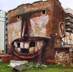 Street art by Penao in Poblenou, Spain