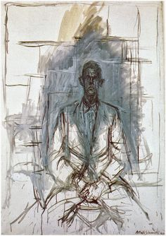 The movie 'Final Portrait' is a faithful rendition of the book by James Lord, 'A Giacometti Portrait.' The book was published in a year after Lord had posed for Alberto Giacometti in the artist's studio. Alberto Giacometti, Figure Painting, Figure Drawing, Painting & Drawing, Giacometti Paintings, A Level Art, Art Market, Oeuvre D'art, Les Oeuvres