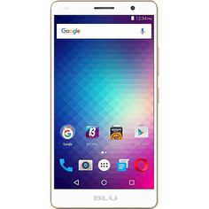 Unlocked BLU - Studio G Plus HD with 8GB Memory Cell Phone - Gold