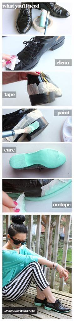 DIY your own colour block oxfords