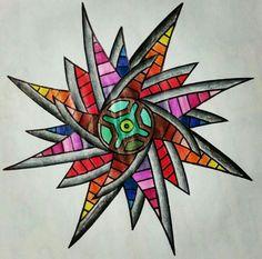 Zrin draw, dibujo creado a base de plumas y colores