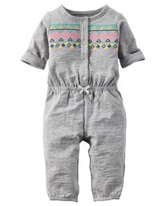 Baby Girl Jersey Jumpsuit | Carters.com