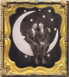 Gay Couple, Vintage Men, Past, Frame, Photography, Painting, Times, Retro, Couples