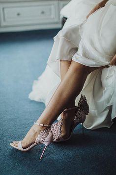 Sophia Webster wedding shoes Chic Wedding at Home by Pawel Bebenca // www.onefabday.com