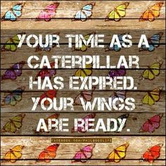 Your time as a caterpillar has expired, Your wings are ready. #mentalhealth #recovery #eatingdisorders