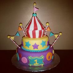 Circus Cake I Made :) Follow me on instagram @loloscakefactory