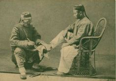 Chinese pedicure Mani Pedi, Pedicure, Old Pictures, Funny Pictures, Vintage China, Fashion History, Chinese, Painting, Inspiration