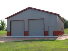 Sherman Pole Buildings is a full service lumber yard specializing in post-frame buildings, storage buildings, and agricultural buildings. Metal Garage Buildings, Pole Buildings, Metal Garages, Shop Buildings, Storage Buildings, Metal Building House Plans, Metal Shop Building, Steel Building Homes, Barn House Plans