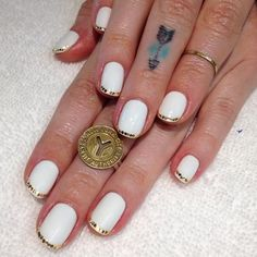 Gold Paillete French for @wolvesinspace  (at Hey, Nice Nails)