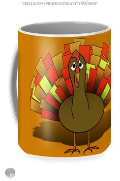 * Worried Turkey Thanksgiving Coffee Mug by #Gravityx9 at Pixels and Fine Art America * Two options to choose form * This design is also available on home decor, tee shirts, and more.* Thanksgiving coffee mugs * holiday coffee mug * coffee mugs gift ideas * Thanksgiving coffee mugs gift ideas * unisex gift ideas coworker * gift ideas friends * gift ideas adults * gift ideas coffee lovers * #Thanksgiving #Thanksgivingmug #holidaymug #Thanksgivingcoffeemug #Fallseasonsbest #Turkey 0920