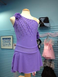 #fsbdressoftheweek  FSB Dress Of The Week January 17, 2013. Lilac Evolve dress with Swarovski Crystals. Only available at The Figure Skating Boutique!!!