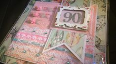 Bright 90th birthday card designed by Leanne Roebuck