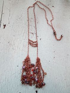 Necklace - Delicate and Beaded. $65.00, via Etsy.