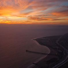 Birds Eye View Ventura California Coastline   by local photographer Broc Ellinger Photography