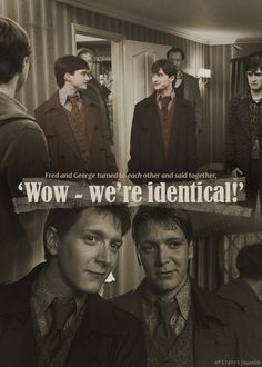 Fred and George...LOLed over this one, both during the movie and reading this pin!
