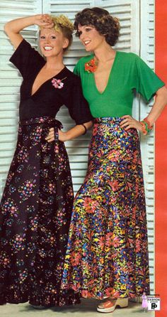 1970s Fashion. My Mum used to wear maxi dresses when she and my Dad went out.