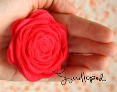 my heart is yours {formerly known as mamajill}: scalloped and rolled felt flower tutorial