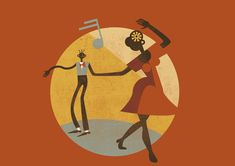 If you love your classics you'll recognise the Lindy Hop in this wonderful illustration.