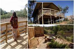 We got to visit AfriCamps @ Kam'Bati River Resort just outside Swellendam for the launch! It was amazing! Boutique Camping, Ultimate Travel, Garden Bridge, Glamping, Make It Simple, Tent, The Outsiders, Tropical, African