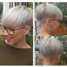 Back of the hair - Shorts with glasses - # .- Back of hair – shorts with glasses – # backside # … – - Short Razor Haircuts, Short Wedge Hairstyles, Pixie Hairstyles, Pixie Haircut, Short Hair Cuts, Cool Hairstyles, Short Hair Styles, Back Of Short Hair, Blonde Pixie