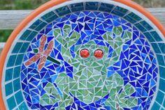 Bird bath Mosaic Frog Pond