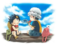 Monkey D. Luffy and Trafalgar D. Water Law One piece