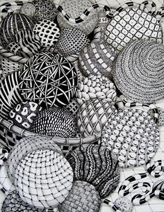 Circles full of zentangles