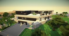 Ultra Modern Minecraft Mansion