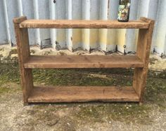 Reclaimed wood shelving unit with free delivery by CircleWoodShop
