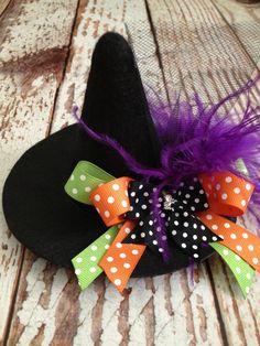 Playful Witch Hat Mini Witch Hat Costume by LalaBirdBoutique
