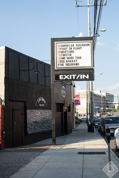 Exit / In off Elliston Place in Nashville! One of the post popular music venues in Nashville.