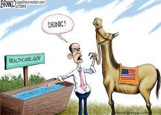 "Branco Cartoon ""Obama and Healthcare.gov"""
