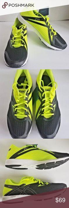 e08fa93397a Asics Mens AmpliFoam T8C3N.9093 Black Yellow Shoes Asics Mens AmpliFoam  T8C3N.9093 Black