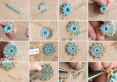 DIY Mandala necklace and earrings set tutorial – I-Beads Blog