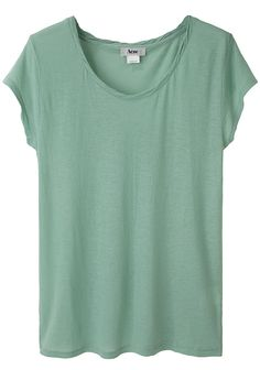 Loose Light Green Short-Sleeved Tee