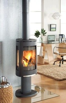 Jotul F370 Concept Wood Stove - contemporary - fireplaces - denver - Home and Hearth Outfitters