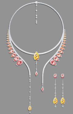 jewelry set «Aurora» by @malenka_ira https://www.behance.net/gallery/41695673/jewelry-set-Aurora