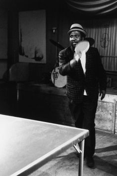 Thelonious Monk, ping-pong enthusiast, circa 1960. Photo: Herb Snitzer / Getty Images